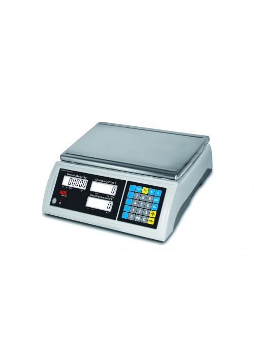 ADE Elektronische Zweibereichs-Ladenwaage mit extra großer Lastplatte und Hochanzeige – Serie LWX100 (geeicht)