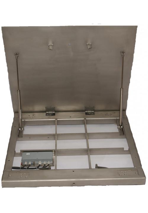 ADE Bodenwaage mit aufklappbarer Lastplatte Serie BW3 mit Auswertegerät STAN07 (eichfähig)